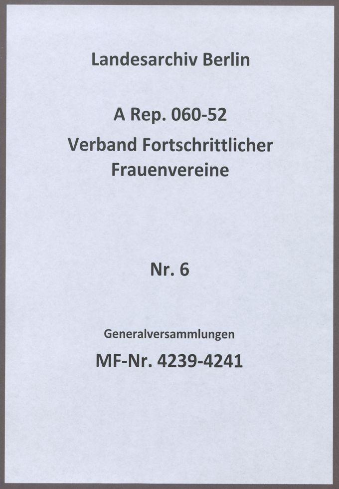 Generalversammlungen / Seite 1