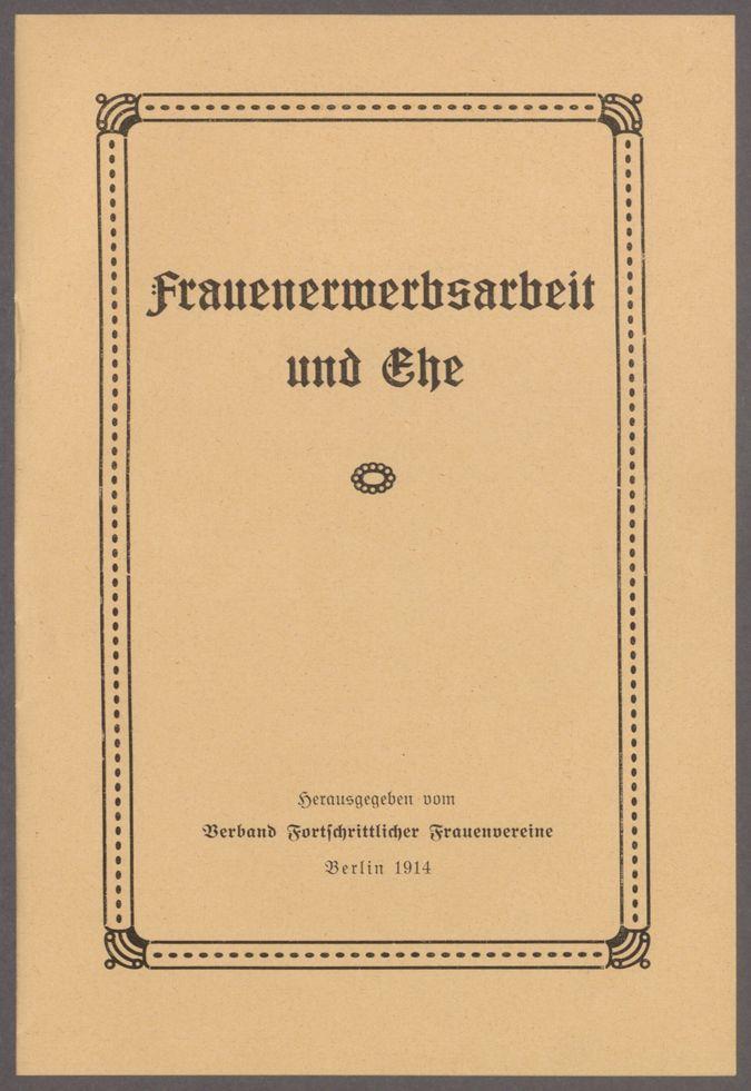 """Schaffung einer Zentralstelle für die Probleme """"Frauenerwerbsarbeit und Ehe"""" / Seite 17"""