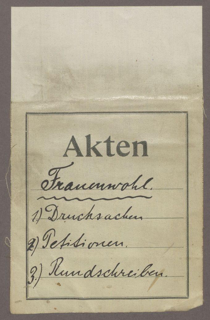 Petitionen und Rundschreiben des Vereins Frauenwohl Groß-Berlin bzw. des Deutschen Stimmrechtsbundes / Seite 4