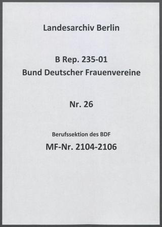 Berufssektion des BDF
