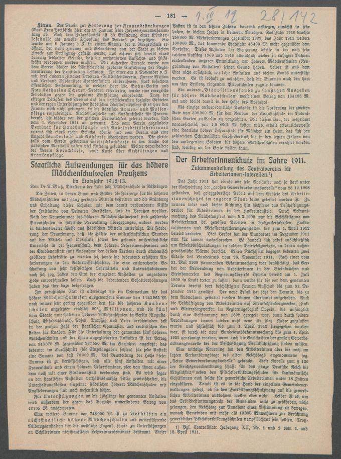 Korrespondenzen, Anschreiben und Sitzungsprotokolle der Kommissionen / Seite 369
