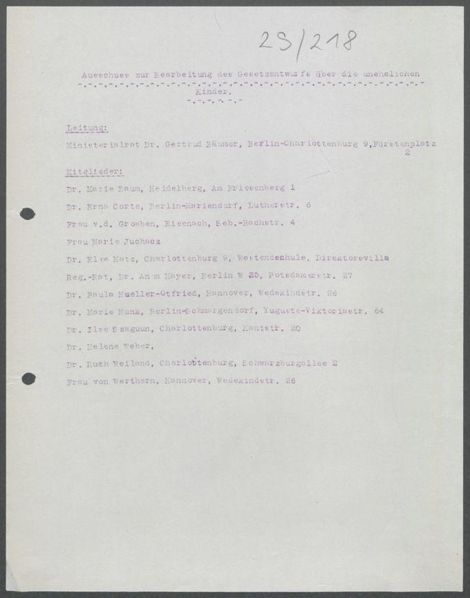 Korrespondenzen, Sitzungsprotokolle, Anschreiben der Arbeitsgemeinschaften, Ausschüsse und Kommissionen / Seite 469