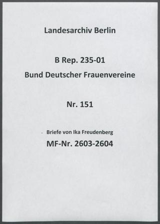 Briefe von Ika Freudenberg