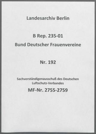 Sachverständigenausschuß des Deutschen Luftschutz-Verbandes