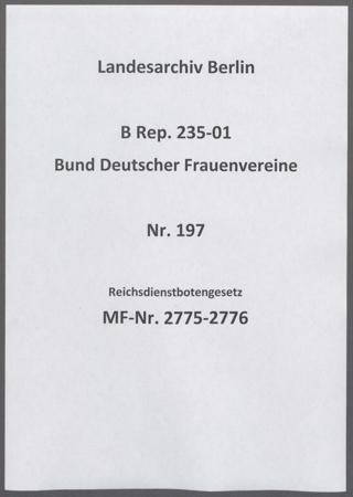Reichsdienstbotengesetz