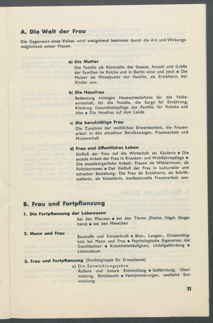 """Anschreiben, Korrespondenzen, Zeitungsartikel, Kataloge und Programmhefte zur Ausstellung """"Die Frau"""" in Berlin 1933 (Ausstellung für Frauenleben und -wirken in Familie, Haus und Beruf)  / Seite 42"""