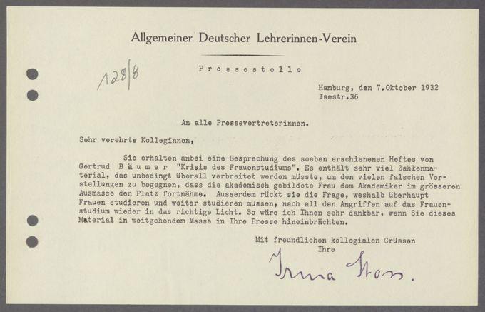 Veröffentlichungen der ADLV-Pressestelle (Irma Stoss, Hamburg)  / Seite 13