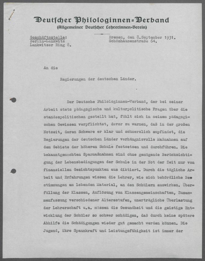 Schriftwechsel mit Ministerien der Länder / Seite 4