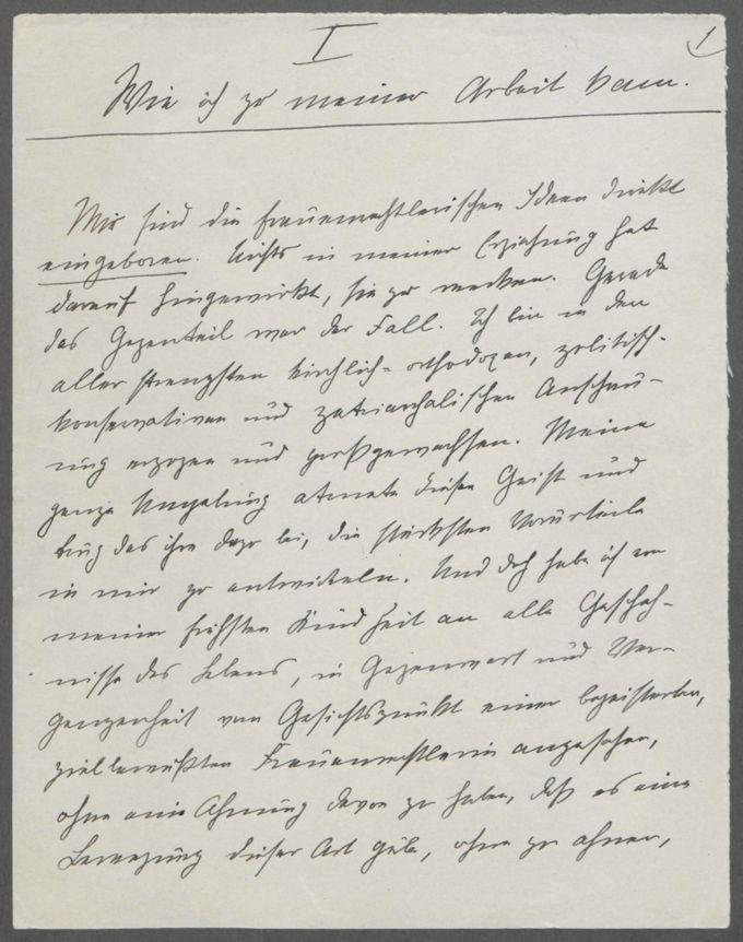 """Aufzeichnungen von Anna Pappritz """"Wie ich zu meiner Arbeit kam"""" (167 S.) / Seite 3"""