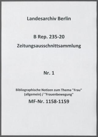 Bibliographische Notizen zum Thema