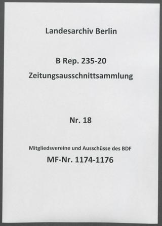 Mitgliedsvereine und Ausschüsse des BDF