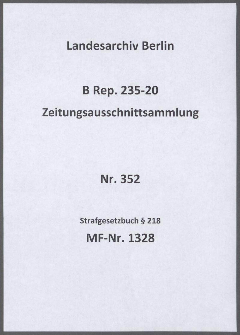 Strafgesetzbuch § 218