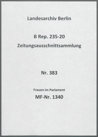 Frauen im Parlament
