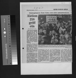 """Die """"Aktion 218 Köln"""" sammelte Unterschriften gegen den § 218 StGB anlässlich der Demonstration am Offenbachplatz."""