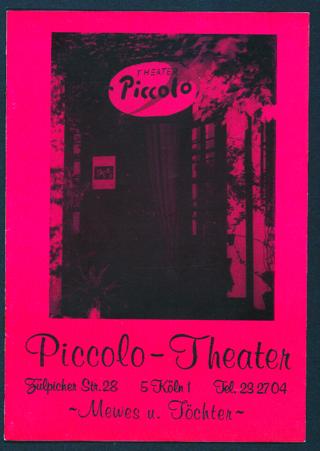 Programmheft des Frauentheaters Piccolo in Köln
