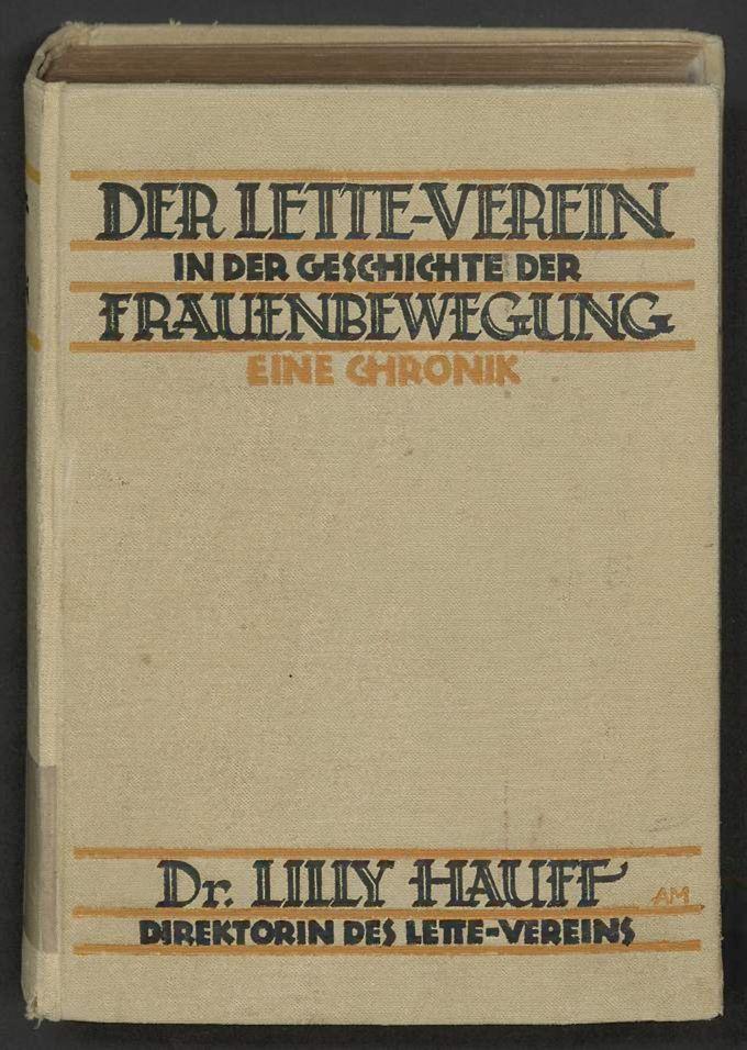 Der Lette-Verein in der Geschichte der Frauenbewegung / Seite 1