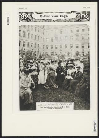 3. Internationaler Frauenkongress in Berlin vom 12. bis 19. Juni 1904