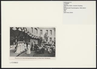 3. Internationaler Frauenkongress in Berlin vom 12. bis 19. Juni 1904. Empfang im Lette-Haus