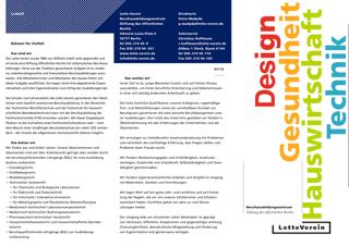 Flyer des Berufsausbildungszentrums Lette-Verein
