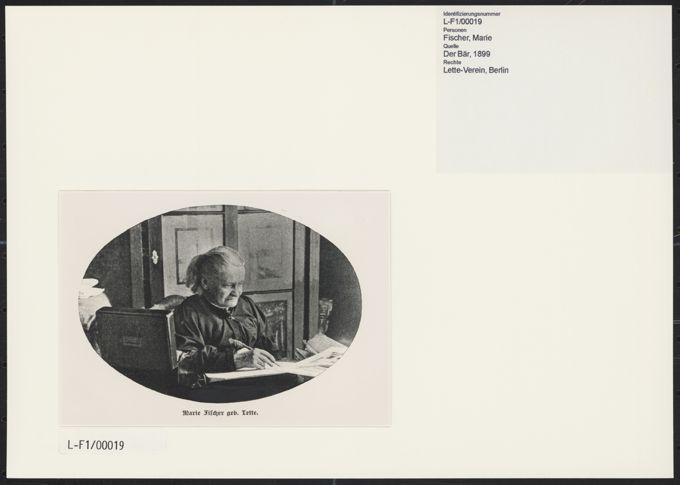 Marie Fischer geb. Lette / Seite 1