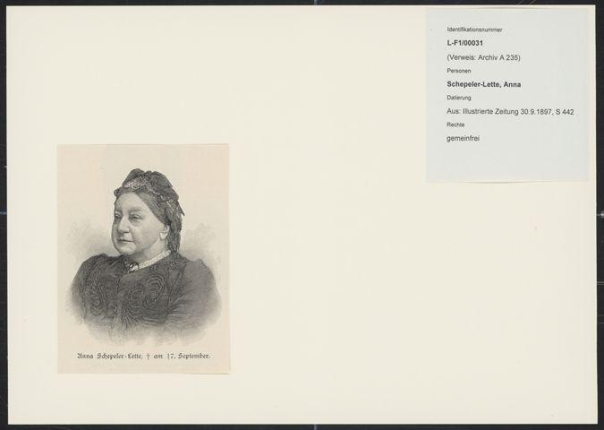 Anna Schepeler-Lette / Seite 2