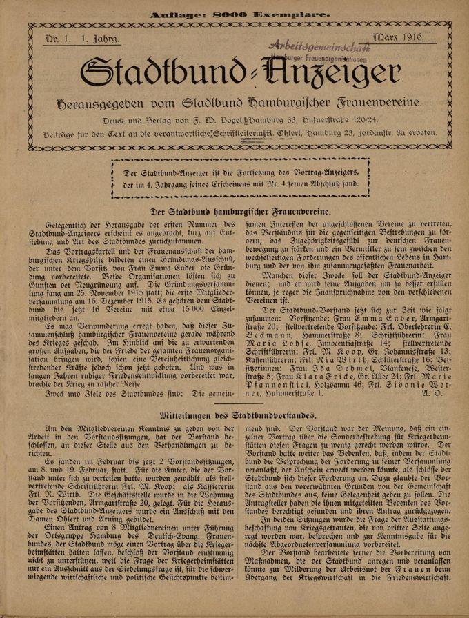 Stadtbund-Anzeiger 1(1916)1