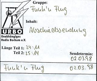 """Abschiedssendung"" Sendung vom 02.03.1998"