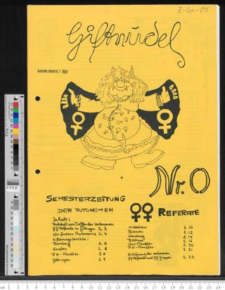 Giftnudel - Semesterzeitung der Autonomen Frauen-Referate, Sommer ´80