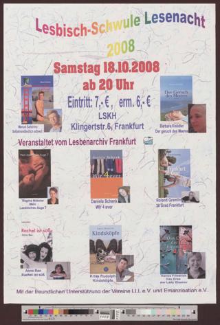 Lesbisch Schwule Lesenacht zur Buchmesse 2008