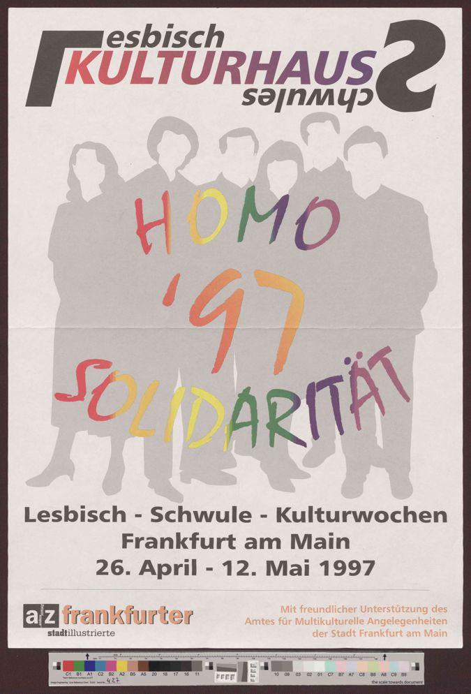 Homosolidarität 1997 :  Lesbisch-Schwule Kulturwochen Frankfurt am Main 1997