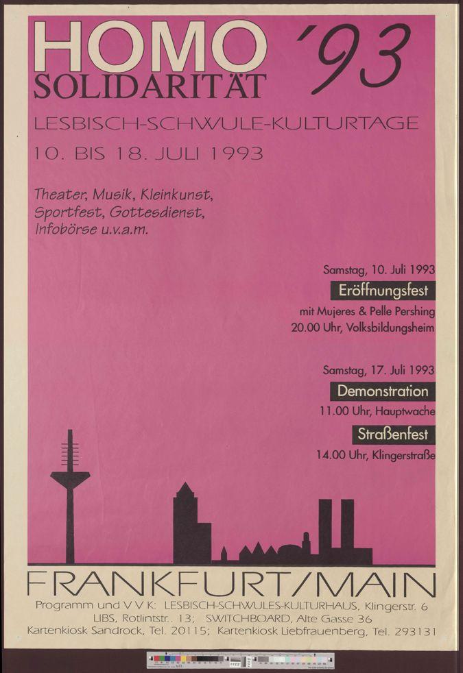Homosolidarität '93 :  Lesbisch-Schwule Kulturtage