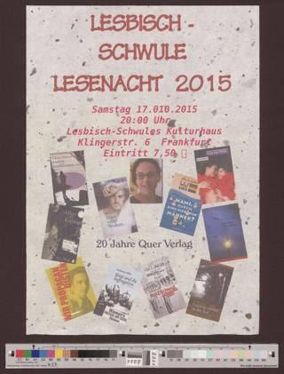 Lesbisch-Schwule Lesenacht 2015
