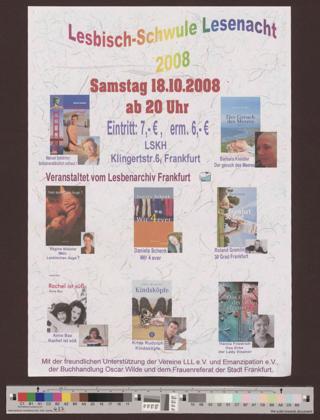 Lesbisch-Schwule Lesenacht 2008