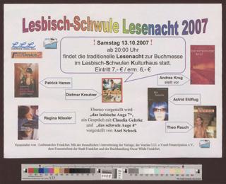 Lesbisch-Schwule Lesenacht 2007