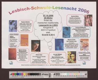 Lesbisch-Schwule Lesenacht 2006