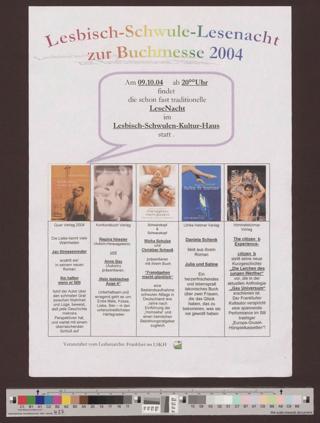 Lesbisch-Schwule Lesenacht zur Buchmesse 2004