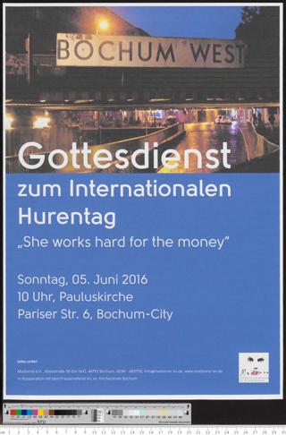 """Gottesdienst zum Internationalen Hurentag : """"She works hard for the money"""""""