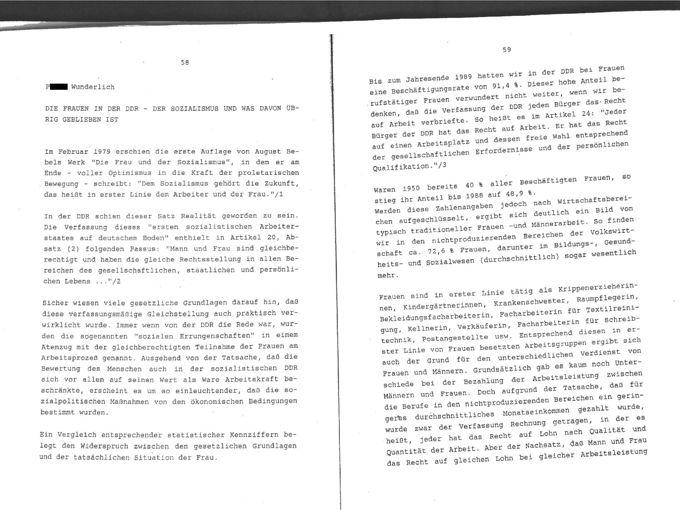 Die Frauen in der DDR : Der Sozialismus und was davon übrig geblieben ist / Seite 1