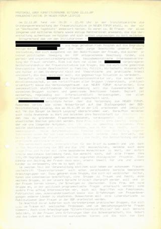 Protokoll über konstituierende Sitzung 22.11.89 : Fraueninitiative im Neuen Forum