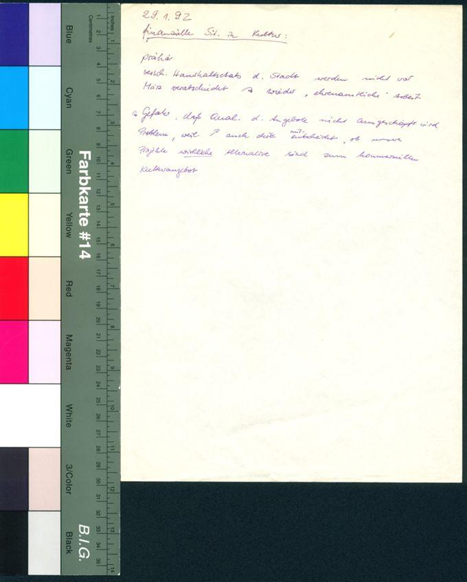 Dokumente zur finanziellen Situation / Seite 1