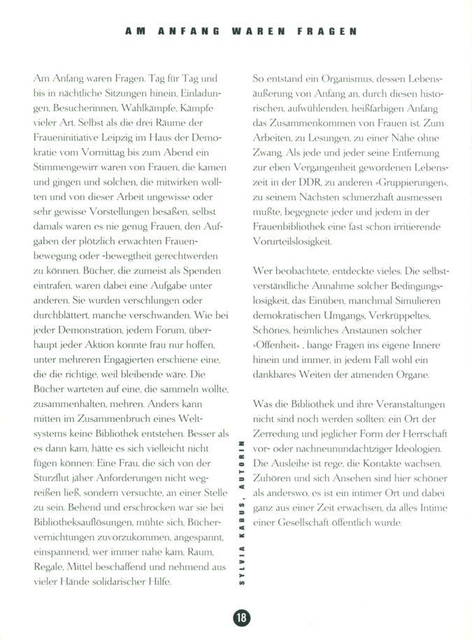 Am Anfang waren Fragen / Seite 1
