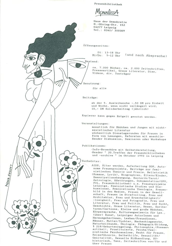 Plakat Kurzvorstellung MONAliesA / Seite 1