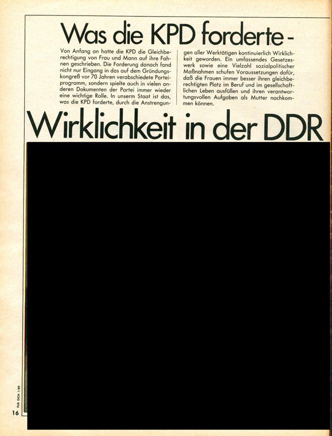 Was die KPD forderte – Wirklichkeit in der DDR / Seite 1