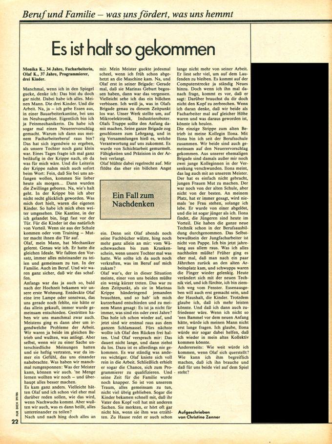 Leser*innenbrief: Es ist halt so gekommen / Seite 1