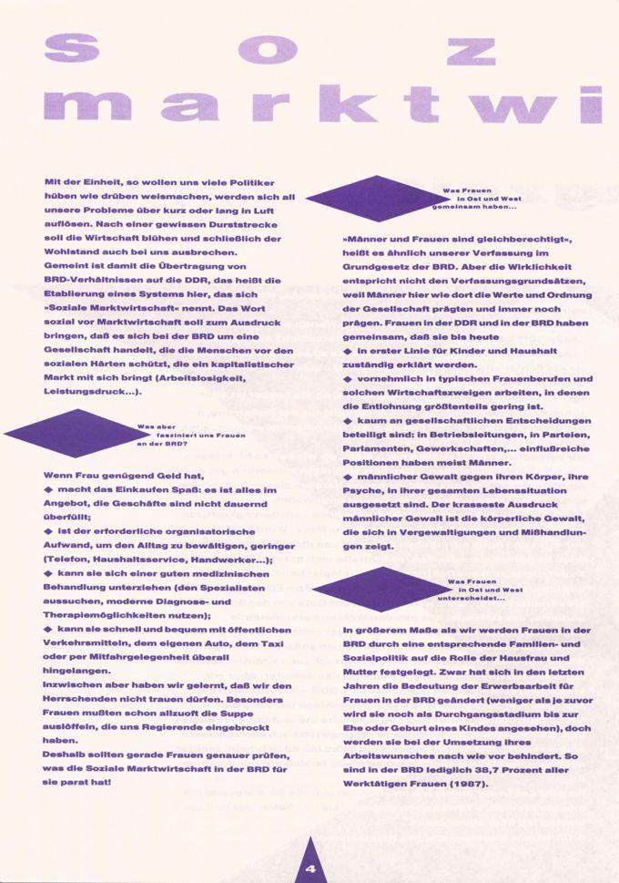 Soziale Marktwirtschaft [der BRD] : [Was bedeutet das für Frauen?] / Seite 1
