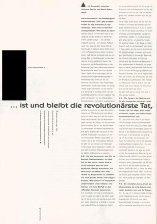 """""""...ist und bleibt die revolutionärste Tat, immer das laut zu sagen, was ist"""" Rosa Luxemburg : Ein Gespräch zwischen Gabriele Zekina und Katrin Rohnstock"""