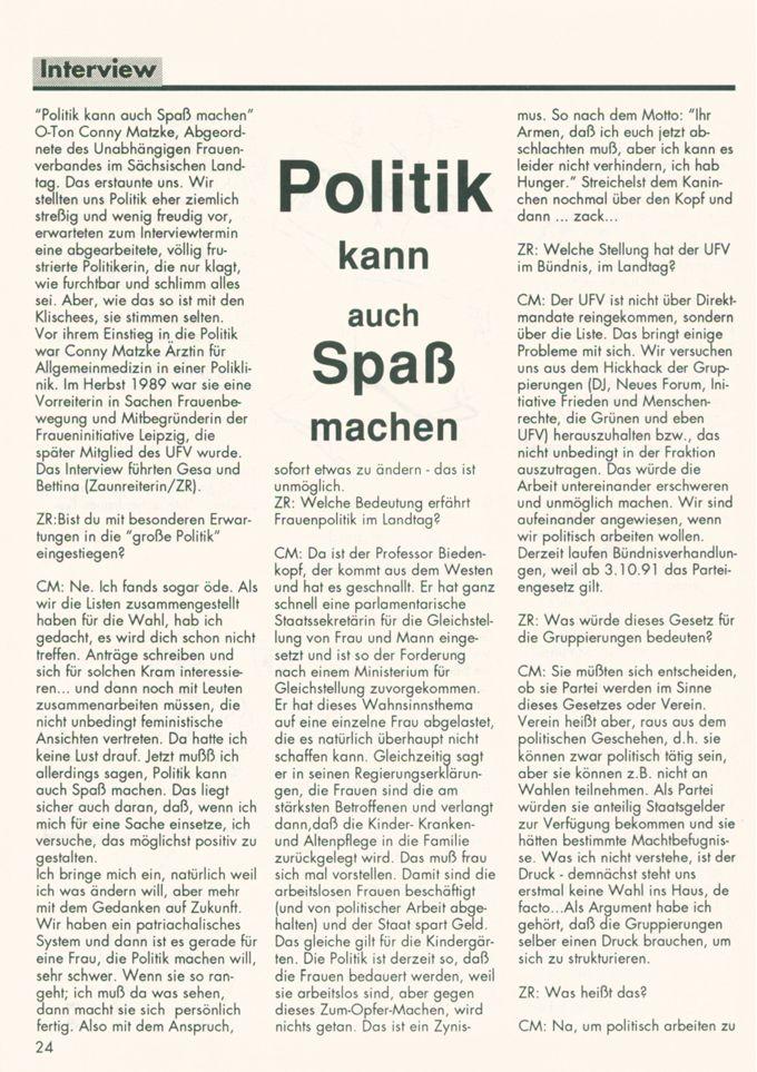 Politik kann auch Spaß machen : Interview mit Cornelia Matzke [Online Ressource] / Seite 1