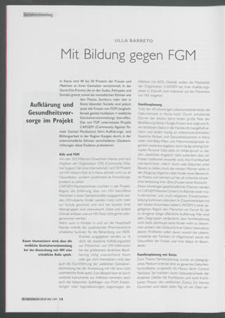 Mit Bildung gegen FGM