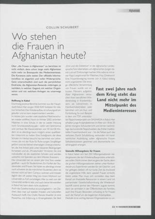 Wo stehen die Frauen in Afghanistan heute?