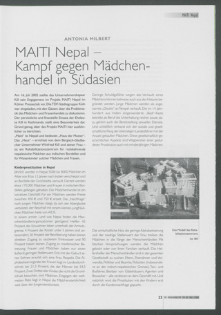 Maiti Nepal - Kampf gegen Mädchenhandel in Südasien